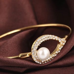 Alexis Bittar Crystal Tension Bangle Bracelet